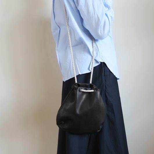 STYLE CRAFT DK-02 巾着レザーポーチ中 BLACK