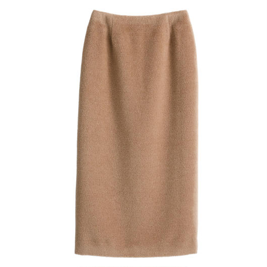 Graphpaper WOMEN Alpaca Shaggy Tight Skirt 2colors