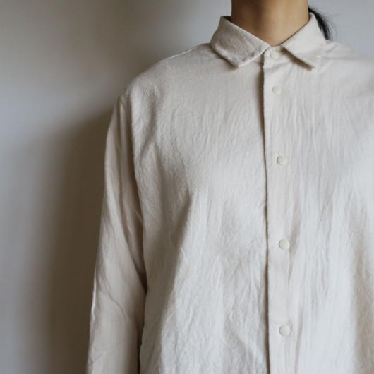 YAECA WOMEN コンフォートシャツ  Relax Short BEIGE