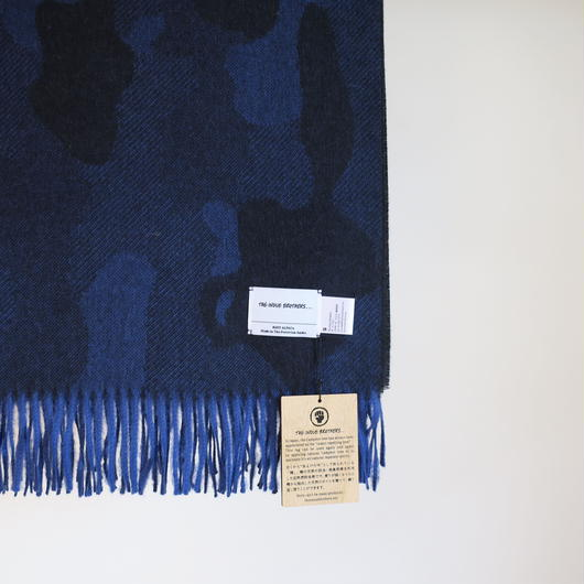 THE INOUE BROTHERS ... Large Woven Stole/CAMO 2colors