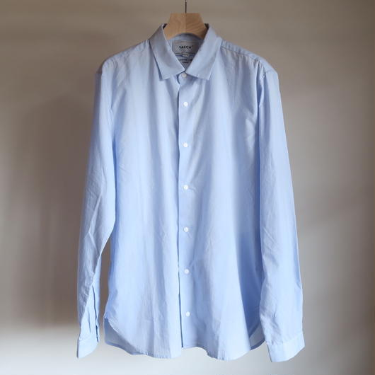 YAECA MEN COMFORT SHIRT LONG  BLUE 18105