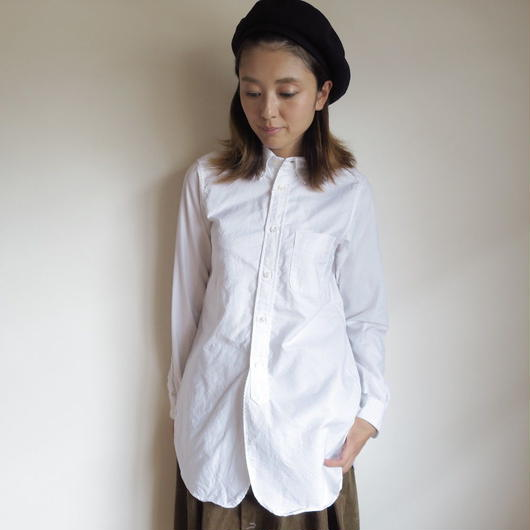 FWK by ENGINEERED GARMENTS 19th BD Shirt - Cotton Oxford WHITE