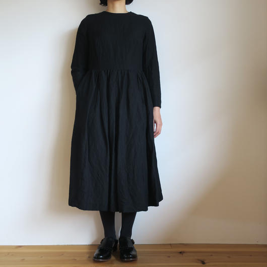 YAECA WRITE WOMEN タックドレス BLACK 98752