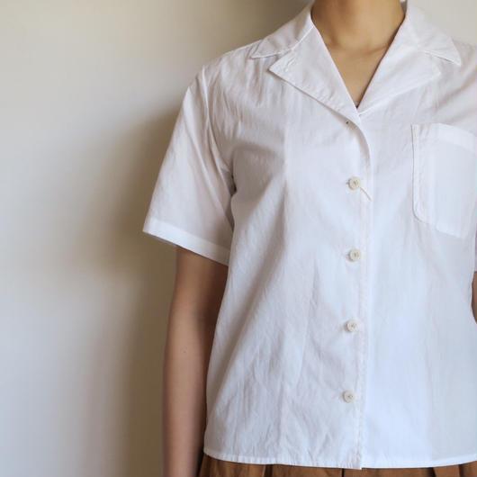 YAECA WOMEN キャンプシャツ WHITE