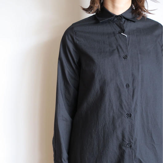 YAECA WRITE WOMEN ロング シャツ BLACK