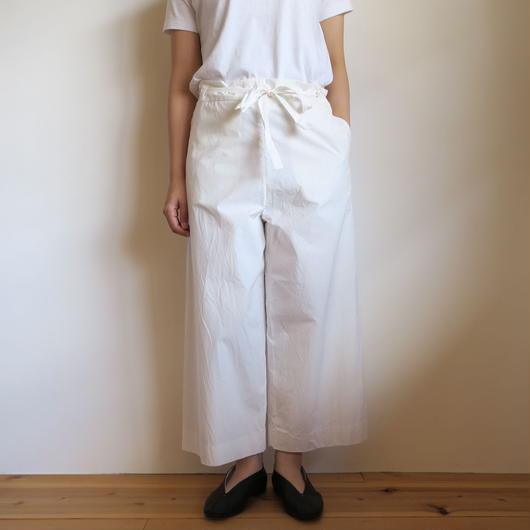 YAECA WOMEN ベルトパンツ WHITE 98608