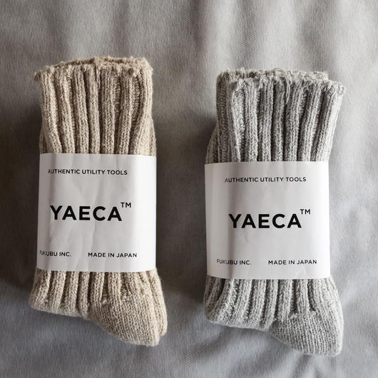 YAECA COTTON SILK SOCKS 2colors