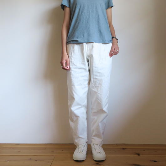 YAECA WOMEN CHINO CLOTH PANTS タックテーパード 5colors