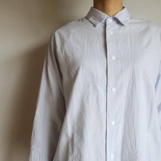 YAECA WOMEN コンフォートシャツ  Relax Short SAX BLUE