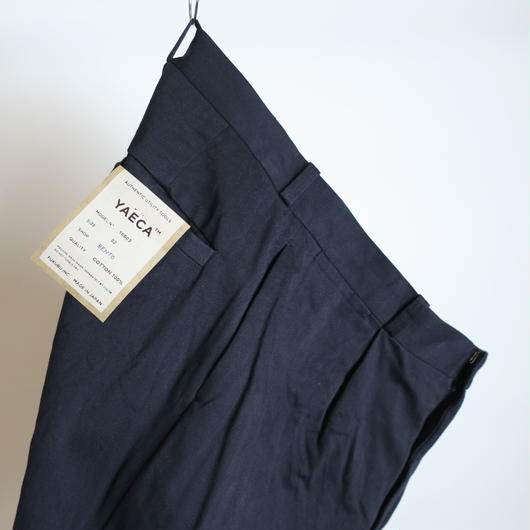 YAECA MEN CHINO CLOTH PANTS タックテーパード 18603 2colors