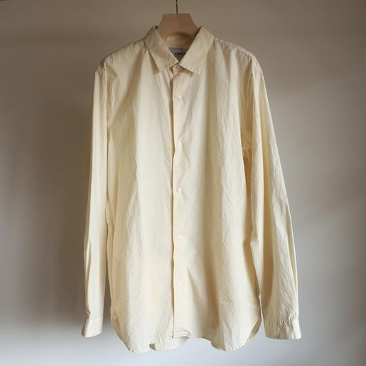 YAECA MEN COMFORT SHIRT WIDE  BEIGE 18110