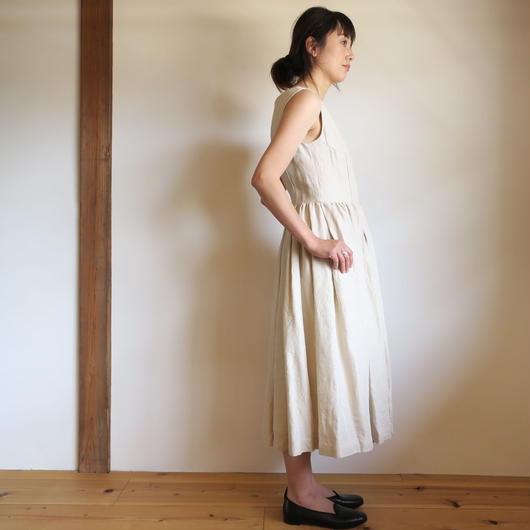 YAECA WRITE WOMEN タックドレス NATURAL