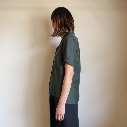 Graphpaper WOMEN Cupra Open-collar Shirt GREEN