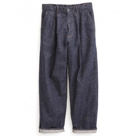 Graphpaper MEN Colorfast Denim Two Tuck Pants