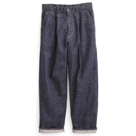 Graphpaper MEN Colorfast Denim Two Tuck Pants