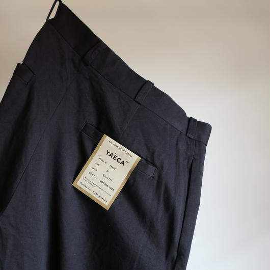 YAECA MEN CHINO CLOTH PANTS ワイド 18604 3colors