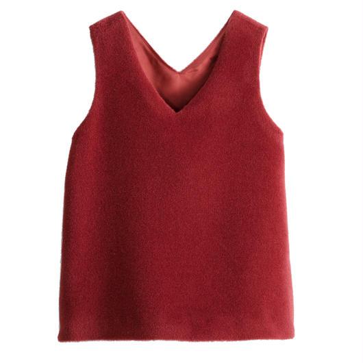 Graphpaper WOMEN Alpaca Shaggy V-neck Vest 2colors