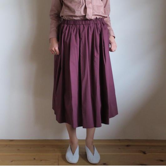 Graphpaper WOMEN Original Typewriter Gathers Skirt BOUDEAUX