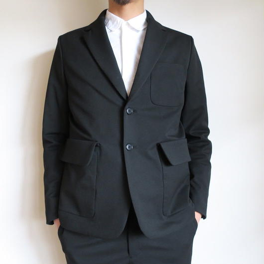 YAECA CONTEMPO MEN 3B JACKET & PANTS ブラック