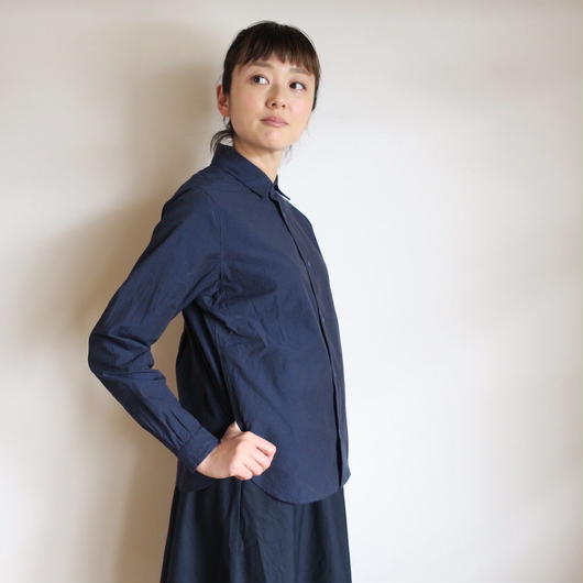 YAECA WOMEN Comfort Shirt wide NAVY