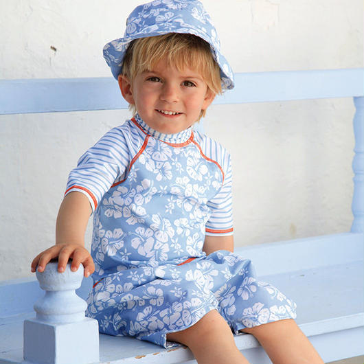 "Archimede ""HAWAI SKY BABY HAT""  スイムハット・水色 for Babys BOYS"