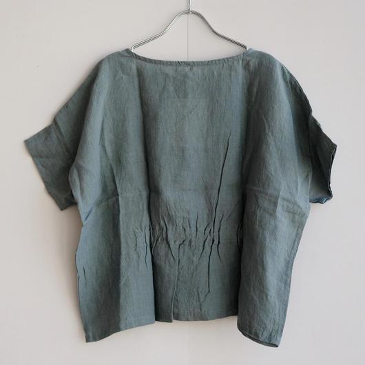 YAMMA  リネン半そで絞りシャツ