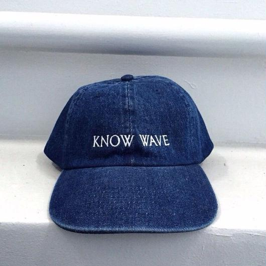 Know Wave/Logo cap BLUE denim
