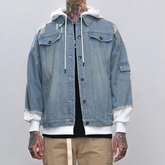 WOSS.official/Hoodie Denim Jacket