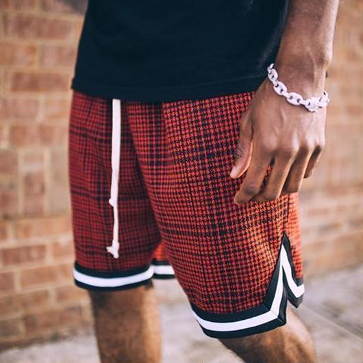EPTM/BasketBall Shorts RED CHECK