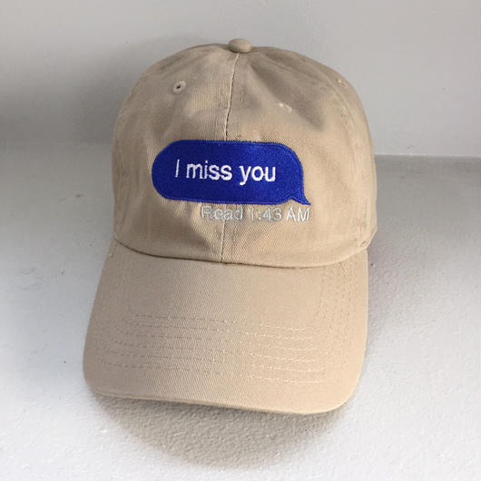 Trius Garments/miss you cap ベージュ