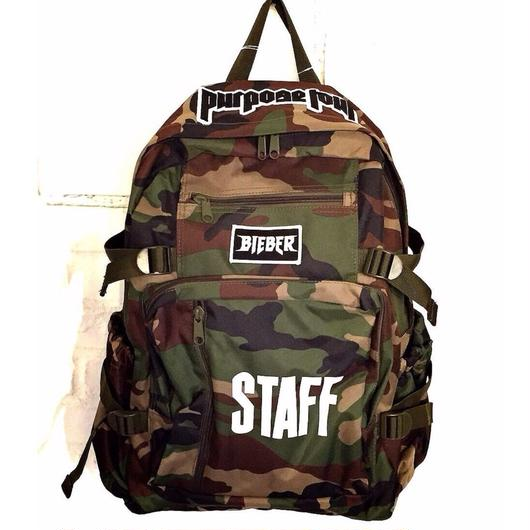 Purpose tour/Justin bieber official CAMO BackPack