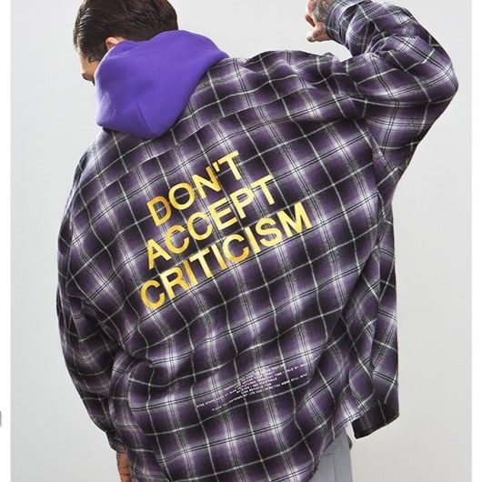 WOSS.official/Plaid shirt  PURPLE