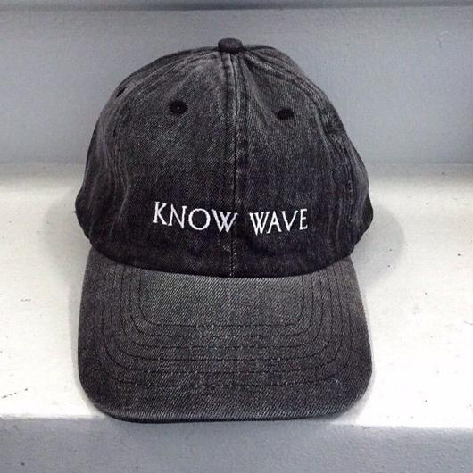 Know Wave/Logo cap   BLACK denim