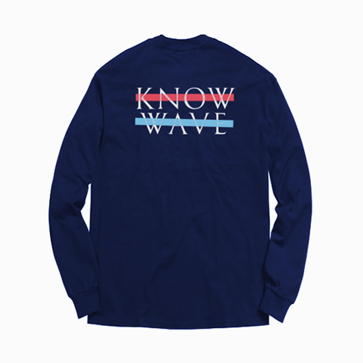 Know Wave/Long sleeve  ネイビー