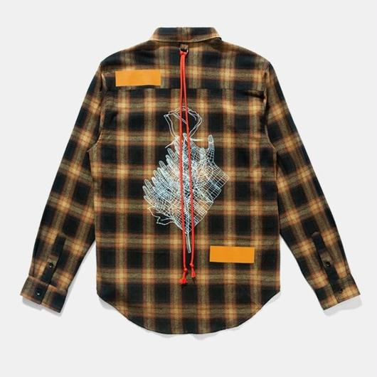 WOSS.official/Plaid shirt Yellow