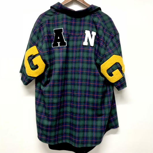 Mismatch NYC/G.A.N.G  half sleeve shirts  グリーン