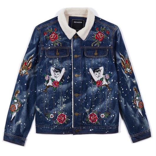 Reason Clothing Newyork/BOA  Denim Jacket