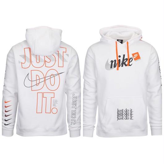 "NIKE/US規格 ""Just Do it"" フーディー ホワイト"