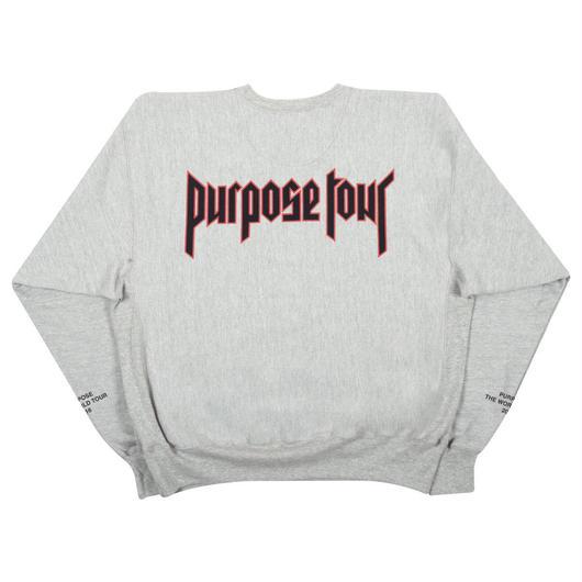 Purpose tour/Justin bieber official crew neck スエット