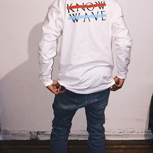Know Wave/Long sleeve  ホワイト