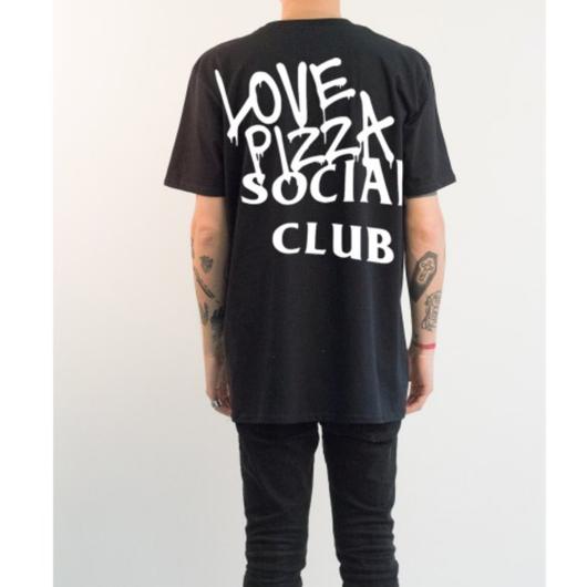No Perfect Italy/Love Pizza Club  Big Tee Black