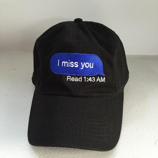 Trius Garments/miss you cap ブラック