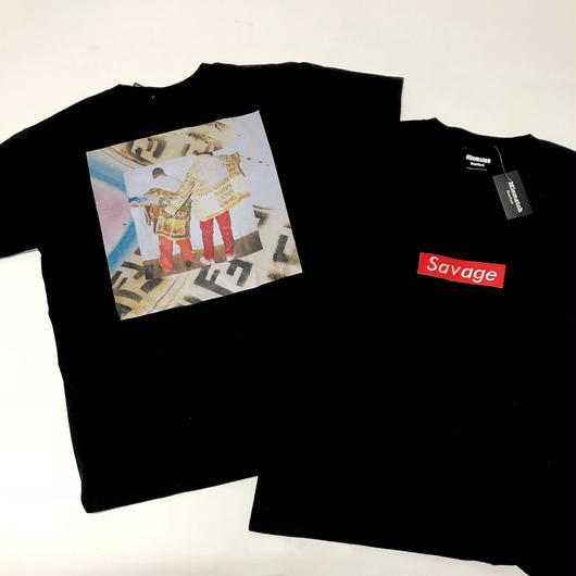 Mismatch NYC/SAVAGE Tshirt  ブラック