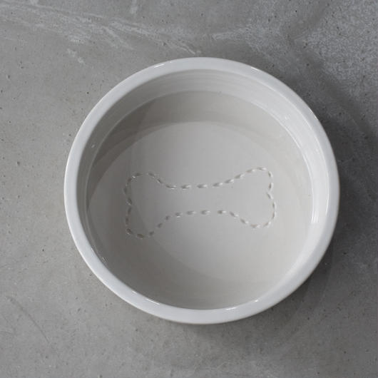Mungo &Mund   stitch  bone  dog bowl   L