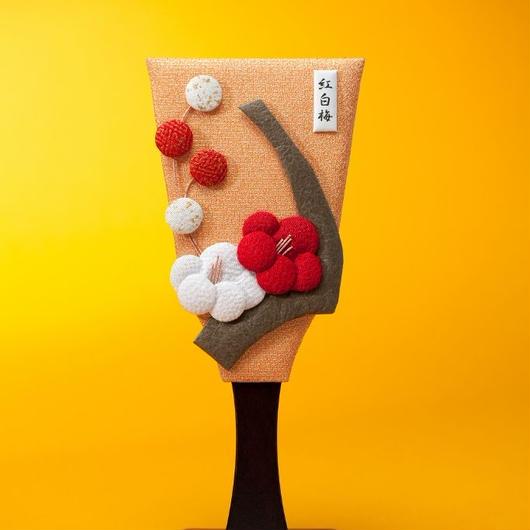 No.1024 姫羽子板(紅白梅)