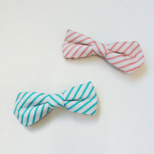 spring color stripe*bow tie