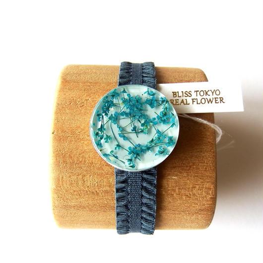 かすみ草のブレスレット(青)