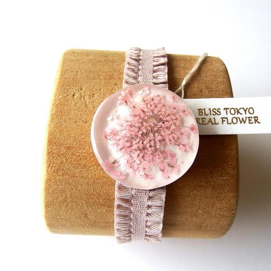 かすみ草のブレスレット(ピンク)