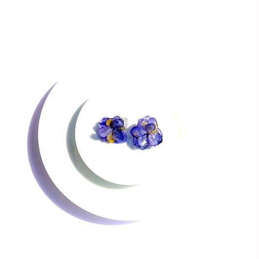 青緑 紫陽花のピアス