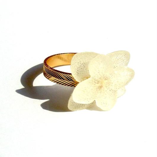 紫陽花の指輪ヘリンボーン柄10号
